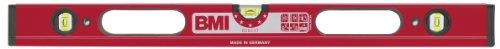 BMI 698120 Wasserwaage Robust 120 cm | 4-Kammerprofil, pulverbeschichtet, Horizontallibelle mit Lupeneffekt, Umschlagmessung möglich | Libellen: 3, ultraschallverschweißt, Länge 120cm, Farbe: Rot
