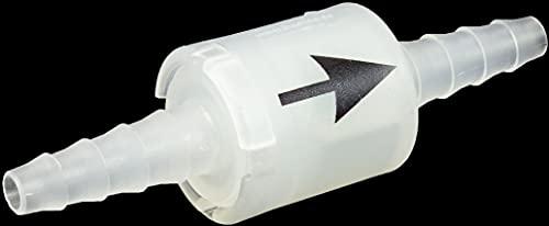 Rückschlagventil für 6 bis 8mm Innendurchmesser Schläuche zum Anschluss an Kondenstrockner und Waschmaschine bedruckt
