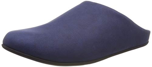 Fitflop Herren Shove Mule Leather Pantoffeln, Blau (Midnight Navy 399), 41 EU