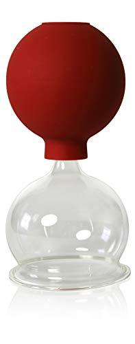 Schröpfglas mit Saugball 60mm zum professionellen, medizinischen, feuerlosen Schröpfen mundgeblasen handgeformt, Schröpfglas, Schröpfgläser, Lauschaer Glas das Original
