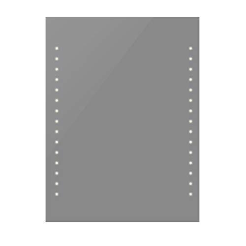 vidaXL Badspiegel mit LED Beleuchtung 50x60cm Lichtspiegel Spiegel Wandspiegel