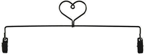 Ackfeld Manufacturing 12in Heart Clip Holder Hanger, Charcoal