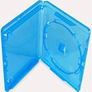 Amaray - Lote de 50 cajas de almacenamiento para Blu-Ray de 14 mm para disco con logotipo en embalaje de la marca Dragon T...