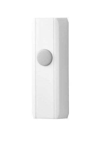 NuTone PB72WH Wireless Weatherproof Unlighted Door Chime Push Button, White