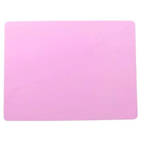 Mantel individual para hornear mejor silicona Horno de calor Coaster bandeja para hornear niños manteles individuales accesorios de cocina a color rosa JXNB