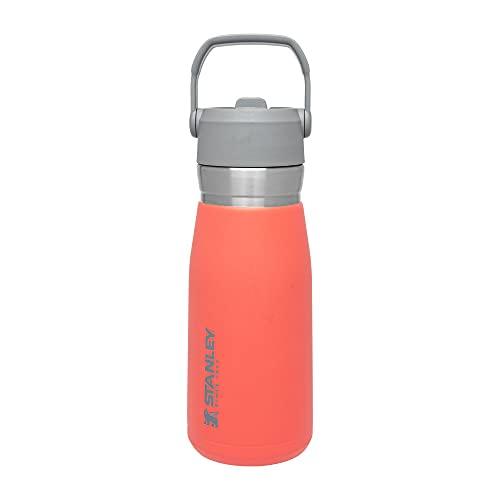 Stanley Unisex's The IceFlow - Botella de agua con pajita, color guayaba, 27 onzas