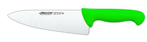 Arcos 290721 - Cuchillo de cocinero, 200 mm, color verde (f.display)
