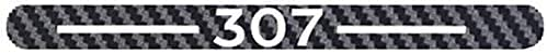 Gemmry Fibra de Carbon Pegatina de luz de Freno Alta, Coche Parabrisas Trasero Luminoso de Montaje Alto Decorativos Emblemas Externo Accesorios para Peugeot 206 301 307