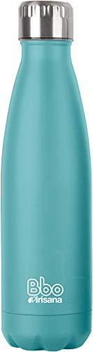 Irisana BBO Botella termo con funda, Turquesa, 350 ml