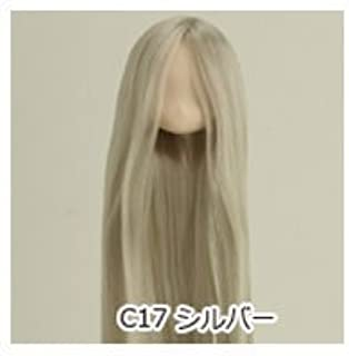 Obitsu 1/6 Scale 11cm Rooted Infant Head 11HD-D01WC17 White Skin Silver Hair