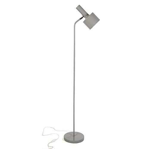 Versa 20790132 Lámpara de pie de Tubo Gris de Metal, 140 x 22 x 36,5 cm