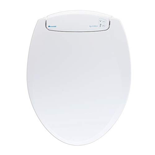 Brondell L60-RW LumaWarm Heated Nightlight Round Toilet Seat, White