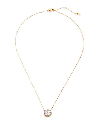 NADRI Round Cubic Zirconia Halo Pendant Necklace