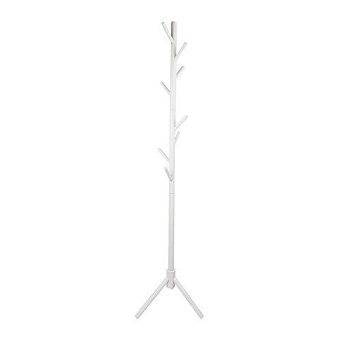Percha de madera maciza Perchero de pie Percha colgante Dormitorio Tendedero (blanco)