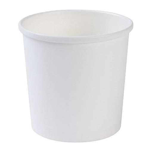 BIOZOYG Bio Einweg-Becher Speisebecher Papp-Becher to Go weiß I Kompostierbare Becher mit PLA Innenbeschichtung Suppen-Becher to Go Einweg Eisbecher Pappe I 25 stabile Karton-Becher 300 ml rund