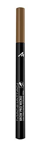 Manhattan Brow Pro Micro Pen Augenbrauenstift, in der Farbe 001 Blonde, Flüssiger Eyebrow Pencil mit ultra-präziser 0,2 mm Spitze, Für einen natürlichen Augenbrauen-Look