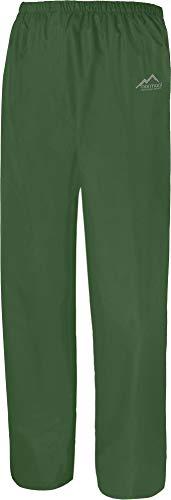 normani Überziehhose Regenhose wasserdichte, atmungsaktive Wetterschutzhose Farbe Grün Größe XXL
