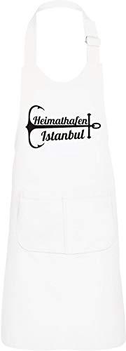 Shirtinstyle Kinderlatzschürze Heimatfafen Estambul - Blanco, 64 x 47 cm