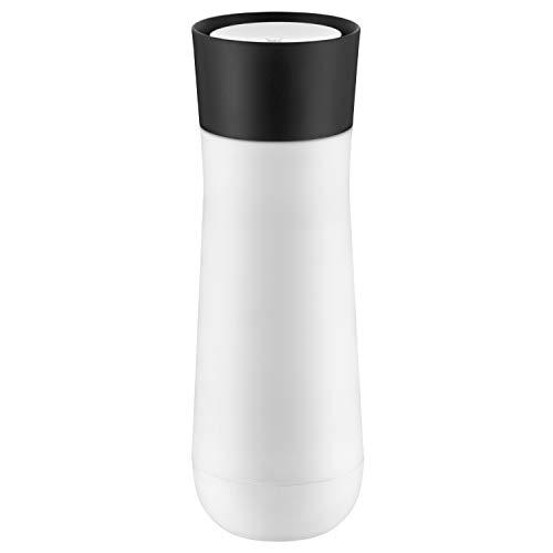 WMF Impulse Isolierbecher 350 ml, Thermobecher mit Automatikverschluss, 360°-Trinköffnung, hält Getränke 1-2h warm/kalt, weiß