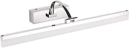 Carl Artbay Shuai Beautiful lamp / * RVS spiegel koplamp LED badkamer Moisture Spiegelkast Helder Modern minimalistisch make-uptafel spiegel licht (uitgang: warm licht -40 cm)