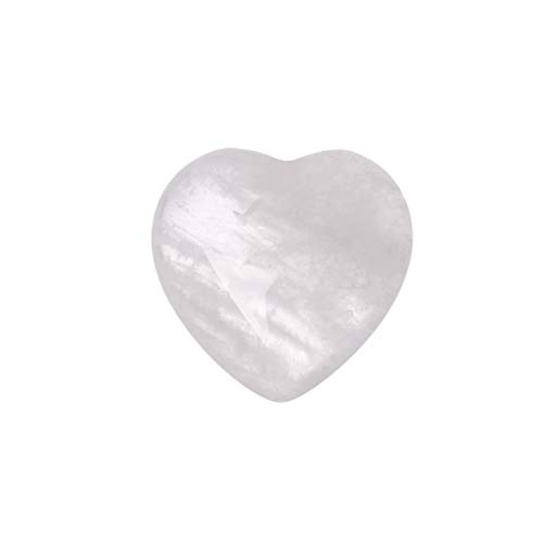 ALEG Natural Crystals, Gem Natural Rose Quartz Love Heart-Shaped Crystal Magic Healing Healing Crystals for Home Decoration Crafts Meditation Reiki (Color : White Crystal)