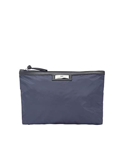 DAY ET Gweneth Quilt Cosmetic Bag Navy Blazer