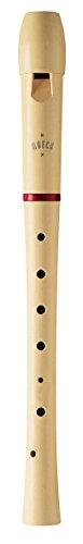 Moeck 1025 Flauto 1 Sopranblockflöte Deutsch Einfachloch Spezialkunststoff Beige mit rotem Ring C-Sopran-Blockflöte Schulblockflöte