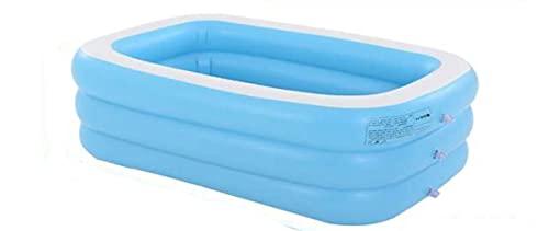 Piscina Inflable para niños de 180/210 CM, 2/3 Capas, bañera para bebés, niños, hogar, al Aire Libre, Gran Piscina Inflable Cuadrada