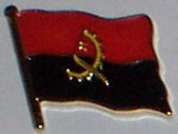 Pin / Badge Flagge Fahne Angola