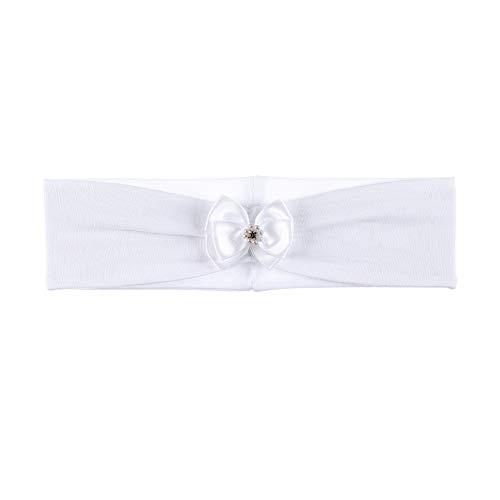 Sterntaler Stirnband für Mädchen mit edlem Schleifchen, Alter: 3-4 Monate, Größe: 39, Weiß