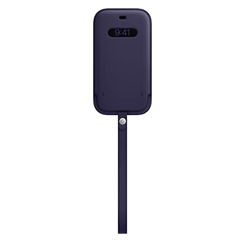 Apple MagSafe対応レザースリーブ (iPhone 12 & iPhone 12 Pro用) - ディープバイオレット