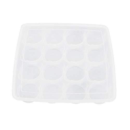 Sushi Food Pastry Storage Box Dessert surgelato Bun Box singolo strato 16 griglia con coperchio