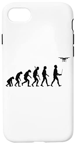 Evoluzione Di Uomo - Fuco Pilota Edizione Bianca Custodia Cassa Del Telefono Per iPhone 7, iPhone 8, iPhone SE 2020 Corazza Dura Con Strato Di Silicone All'interno Phone Case