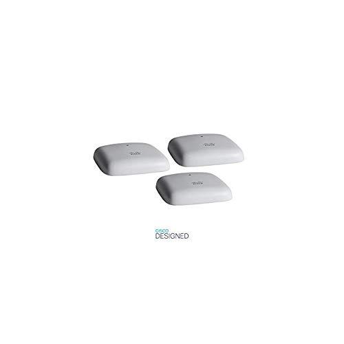 Cisco Business 140AC 802.11ac 2x2 Wave 2 Access Point 1 GbE Port - Ceiling Mount - 3 Pack Bundle, Limited Lifetime Protection (3-CBW140AC-E)