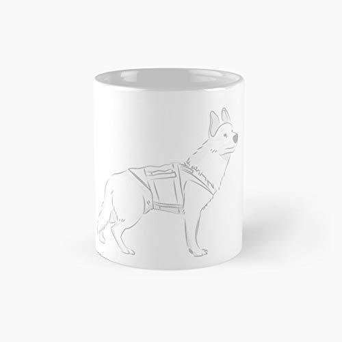 Taza clsica con diseo de perro polica listo para ir misin, el mejor regalo divertido tazas de caf de 325 ml