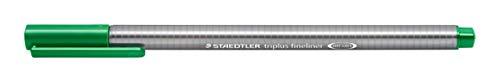 Caneta Ponta Extra Fina 0.3mm, Staedtler, Fineliner Triplus, 334-5 02, Verde