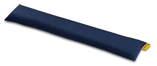 SANTERGO öko-ergonomische Handgelenkauflage für Tastatur mit Bio-Hirsespreu, Handballenauflage zur Vorbeugung von Sehnenscheidenentzündung, thermoregulierend aus natrülichem TENCEL Stoff (blau)
