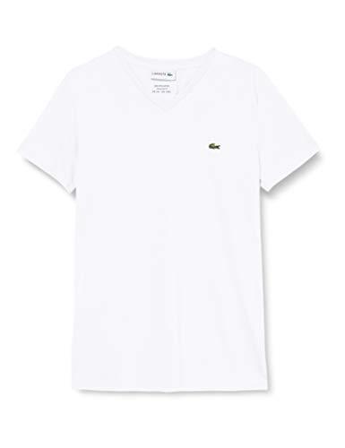 Lacoste Herren TH6710 T-Shirt, Weiß (Blanc), Large (Herstellergröße: 5)