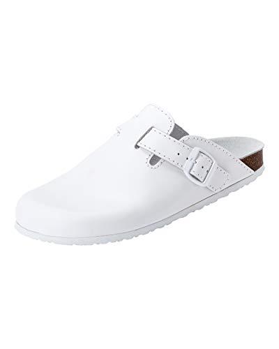 CLINIC DRESS Clog - Clogs Damen und Herren Schuhe für Ärzte, Krankenschwestern oder Pflegekräfte weiß 36