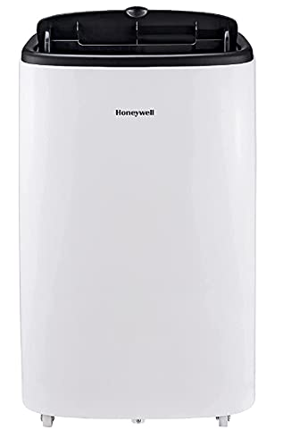 Honeywell Portable 3-in-1 Air Conditioner with Remote Control, 3 Fan Speeds, LCD Display, Anti-Bacterial Filter, 1.5m Hose Included, Energy Rating A, White (12000BTU Smart)