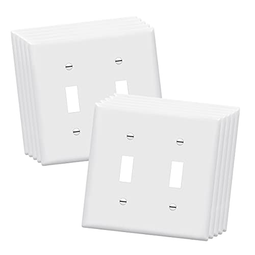 ENERLITES Toggle Light Switch Wall Plate, Size 2-Gang 4.50
