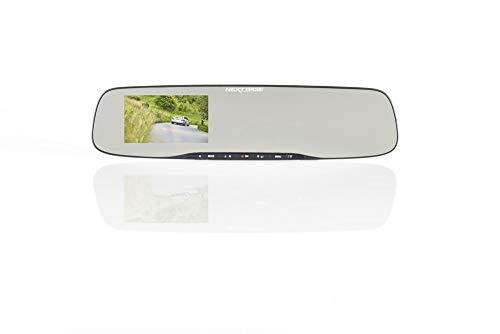 Nextbase Mirror – Full HD 1080p Rückspiegel Dashcam Überwachungskamera & Spiegel Auto-Kamera mit GPS, DVR, WiFi & erweiterter Nachtsicht – KFZ Frontkamera zur Überwachung (Schwarz)