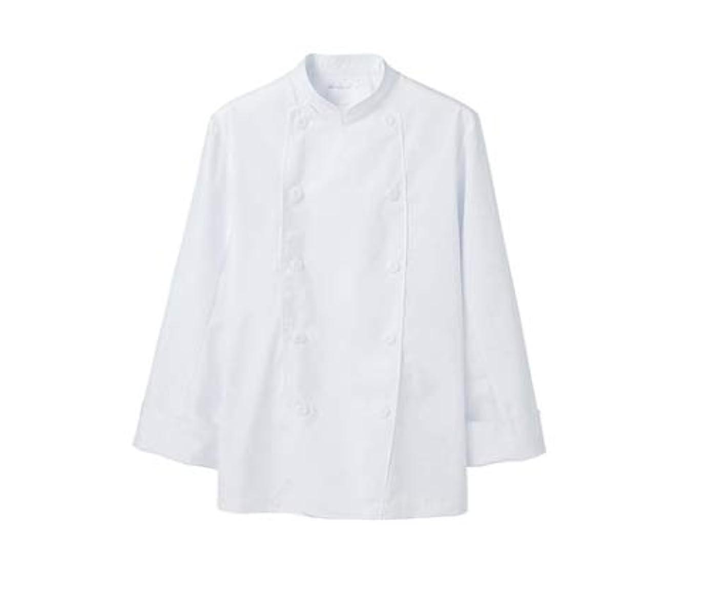 パース有罪援助するコックコート 男女兼用 長袖 白/61-6092-14