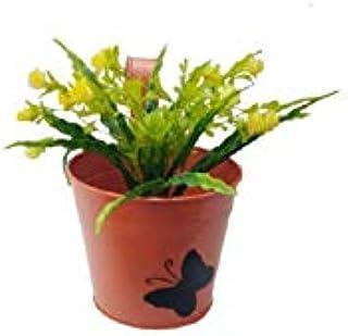 Royal Baskets Butterflyes Round Railing Planter / Plant pots (Orange, Pack of 1)…