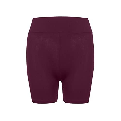 Yoga Shorts de Color Sólido con Bowknot Pantalones Cortos Deportivos para Mujer Leggins Push Up Pantalón Transpirables Elásticos Mallas Fitness Ideal para Running Training Gym