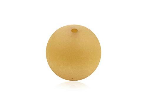 Polariskralen om sieraden zelf te maken 20 mm mat, 5 stuks, mosterd