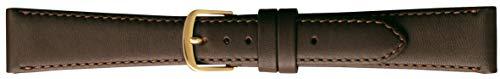 BAMBI バンビ 時計バンド 牛革 チョコ 18mm 美錠 ゴールド C270BP