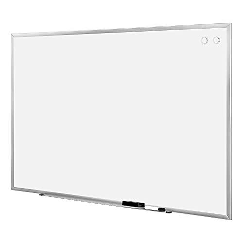 Amazon Basics Large Magnetic Dry Erase White Board, 6 x 4-Foot Whiteboard - Silver Aluminum frame