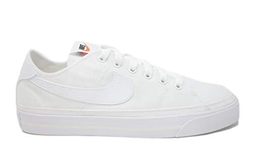 Nike Wmns Court Legacy Cnvs, Zapatillas Deportivas Mujer, White White Summit White, 36.5 EU