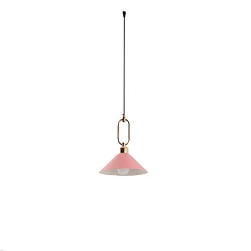 Lámpara colgante de hierro y metal E27 moderna para techo, lámpara colgante